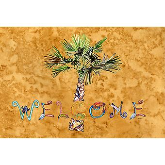 Carolines Treasures  8709PLMT Welcome Palm Tree on Gold Fabric Placemat