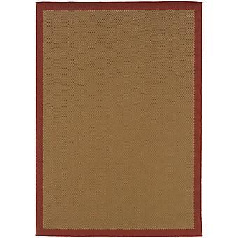Lanai 525o8 beige/red indoor/outdoor rug rectangle 7'3