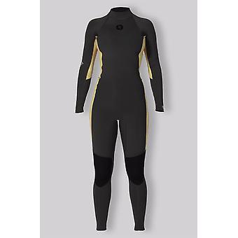 Sisstrevolution womens 7 seas 3/2 stripe back zip full suit
