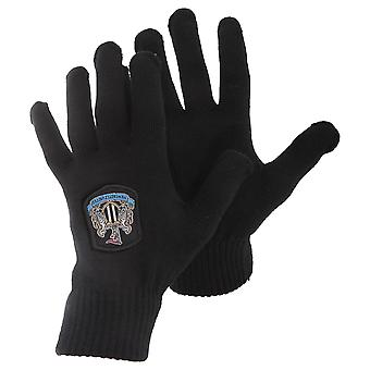 Newcastle United FC Mens Official Knitted Winter Football Crest Gloves