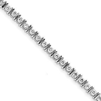 925 Ayar Gümüş Cilalı Rodyum kaplama ıstakoz Pençe Kapatma Fantezi Istakoz Kapatma Elmas Tenis Bilezik Takı G