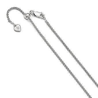 1.6mm 925 Sterling Argent Polished Lobster Claw Closure Réglable Spiga Chain Necklace Jewelry Gifts for Women - Longueur