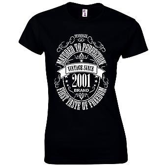 18e verjaardag cadeaus voor vrouwen haar gerijpte 2001 T shirt