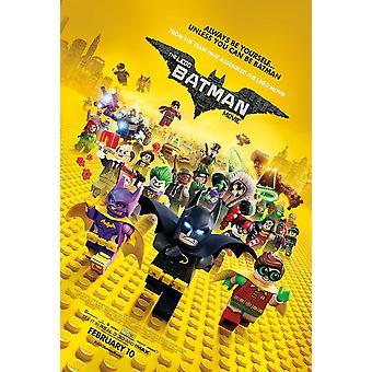 The Lego Batman Movie Original Movie Poster Cast Final Style