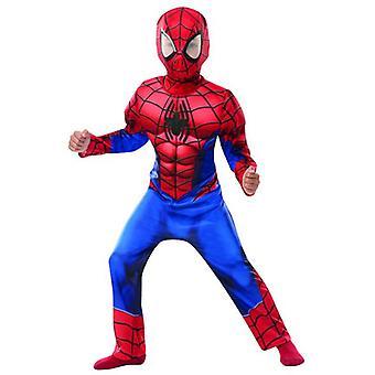 Edderkopp-mann Deluxe barn kostyme MARVEL Carnival Carnival Super helten spider