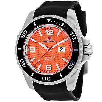 Seapro Men-apos;s Abyss 2000M Diver Watch Orange Dial Watch - SP0743