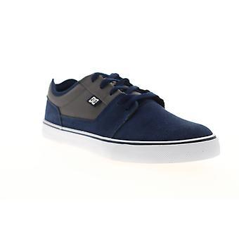 DC Tonik  Mens Blue Gray Suede Lace Up Athletic Skate Shoes