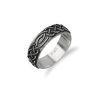 Sterling Argent Traditionnel écossais Celtic Enoce Knotwork Design Ring