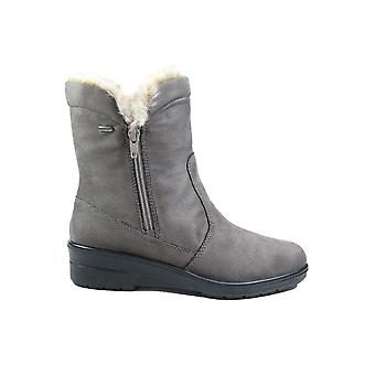 Ara Jennyte 68501-66 Grey Suede Leather Womens Warm Mid Calf Boots