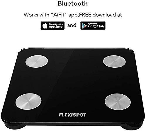 FlexiSpot Bluetooth Body Fat Scale Smart Wireless Bathroom Weight Scale Body Analyzer with BMI Compatible with Smartphone APP