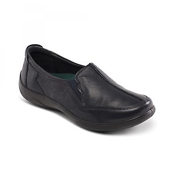 Padders Flute Ladies Leather Extra Wide (2e/3e) Shoes Navy
