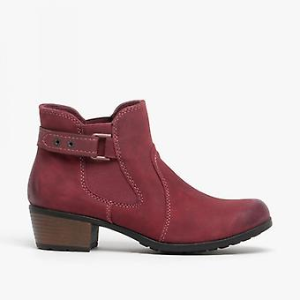 Earth Spirit El Reno Ladies Nubuck Leather Ankle Boots Merlot