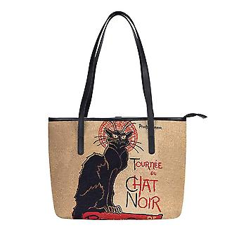 Steinlen - tournée du chat noir shoulder tote bag by signare tapestry / coll-art-ts-chat