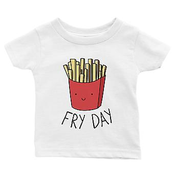 365 trykning Fry Day baby grafisk T-shirt gave hvid Funny baby tee baby brusebad