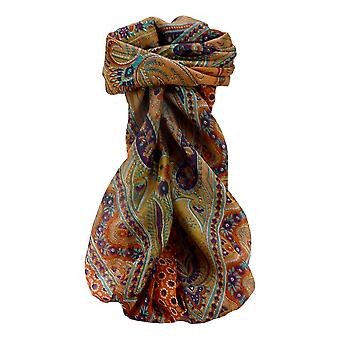 Mulberry Silk Traditional Square Scarf Marar Tangerine by Pashmina & Silk