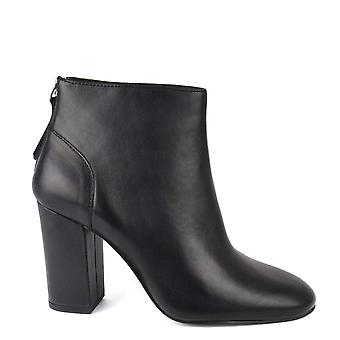 Ash Footwear Joy Black Leather Heeled Boot