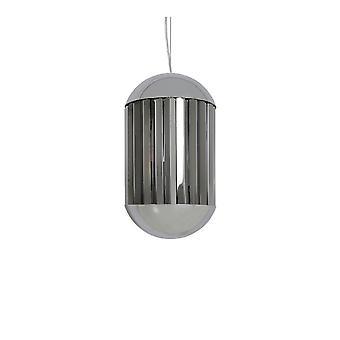 Light & Living GRAYSON Hanging Lamp Chrome & Smoke (30x50cm)