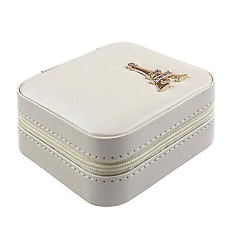 Travel box with Mirror, White