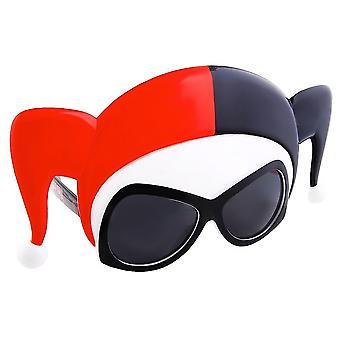 The queen of arkham: harley quinn sun-staches novelty sunglasses