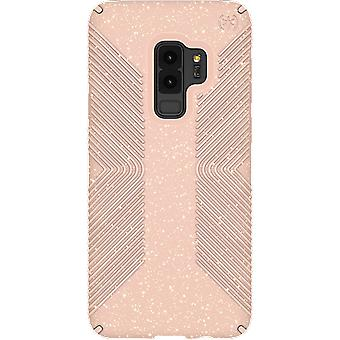 Speck Presidio Grip + Glitter Case for Samsung Galaxy S9 Plus - Dahlia Peach