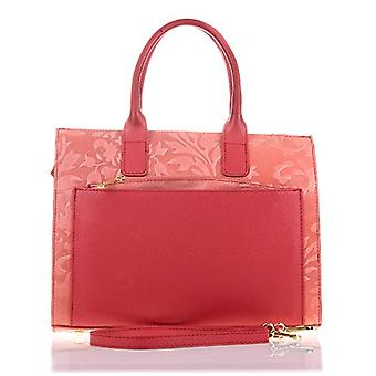 FIRENZE ARTEGIANI. Women's bag in real TOTE leather. Women's bag in real leather engraved arabeschi and lacquered. They sappeas details. MADE IN ITALY. REAL ITALIAN SKIN. 33x26x12 cm. Color: Salmon