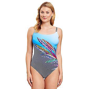 Rösch 1205532-16569 Women's Multicoloured Feathers Swimsuit