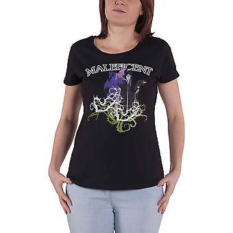 חולצת דיסני T מלפיפיק ג'ל מודפס לוגו חדש נשים רשמיות להתאים שחור רזה