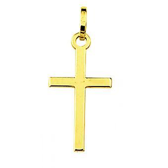 Ciondolo Gold Cross 375/1000 giallo (9K)