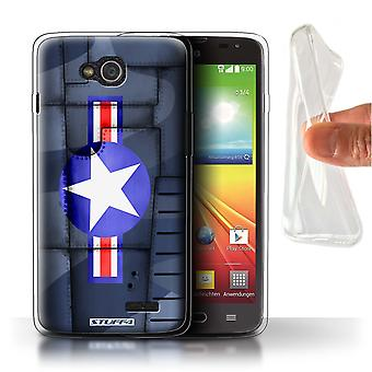 STUFF4 Gel TPU Case/Cover for LG L90/D405/America/Blue/Airplane Fighter Wing
