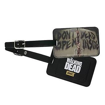 Luggage Tag - The Walking Dead - Don't Open Dead Inside New Toys Licensed TWD-L114