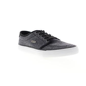 Lugz Rivington  Mens Black Canvas Lace Up Low Top Sneakers Shoes