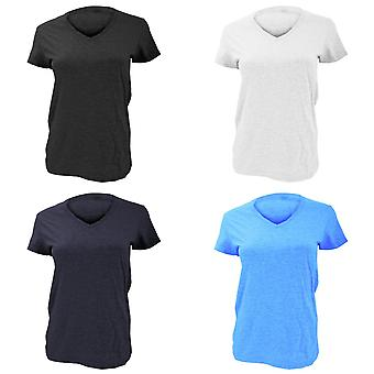 Anvil Womens/Ladies Fashion Basic Plain V-Neck T-Shirt