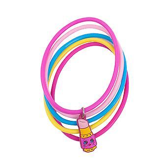 Shopkins Lippy Lips Jelly Bracelets Set