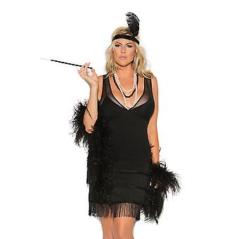 Elegant Moments Womens Plus Size Classic 1920's Gatsby Flapper Halloween Costume