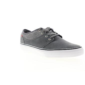 Globe Mahalo  Mens Gray Suede Lace Up Athletic Skate Shoes