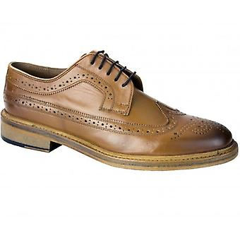 Catesby Shoemakers Benn Mens Goodyear Welted Brogue Shoes Tan