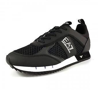 EA7 Emporio Armani Black Mesh Running Style Trainers X8X027 XK050