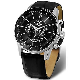 Vostok gaz-14 limouzine chrono Automatic Analog Man Watch with OS22-5611297 Cowskin Bracelet