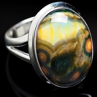 Ocean Jasper Ring Size 6 (925 Sterling Silver)  - Handmade Boho Vintage Jewelry RING3763