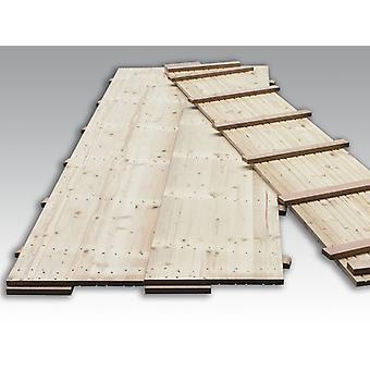 Trægulv til partytelt, 150x50x2,2cm, Fyrretræ, 9 m²