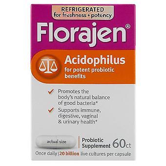 Florajen acidophilus probiotic supplement, capsules, 60 ea