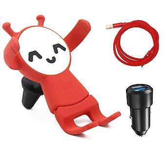 Dual USB auto laturi hauskaa mobiili haltija-pikalataus