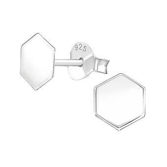 سداسية - 925 ستيرلينغ فضة عادي الأذن ترصيع - W39145x