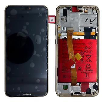 Huawei display LCD unit + frame for P20 Lite Service Pack 02351WRN gold new