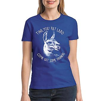 Napoleon Dynamite Tina Women's Royal Blue Funny T-shirt