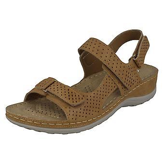 Ladies Spot On Comfort Sandals F10941