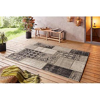 Beach 103848 Symi Taupe  Rectangle Rugs Modern Rugs