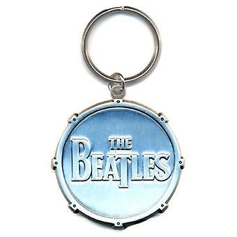 البيتلز Keyring سلسلة المفاتيح طبل إسقاط T الفرقة الرسمية شعار الفضة الجديدة