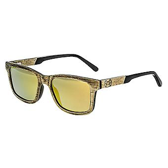 Earth Wood Tide Polarized Sunglasses - Brown/Gold-Yellow
