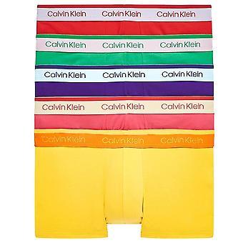 Calvin Klein Baumwolle Stretch 5 Pack Low Rise Trunk, stolze Farben, groß